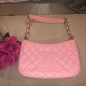 Chanel hobo quilted shoulder bag